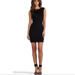 Juicy Couture Black Solid Ponte Mini Dress